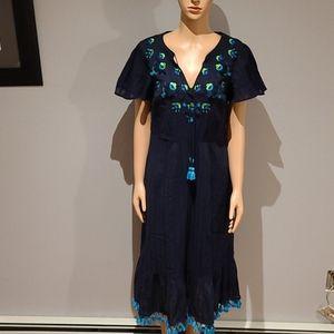 Boden boho navy dress size 6